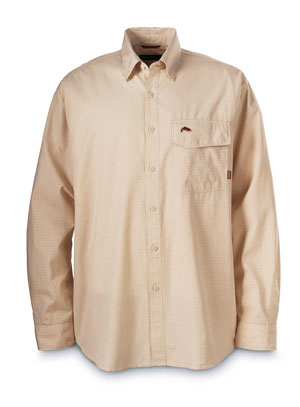 <font color=red>On Sale - Clearance</font><br>Simms Riverside Check Shirt - Orange