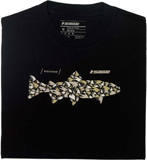 Sage Steelhead Flies Tee - Black