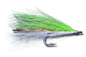 Shark-Cuda Fly - Chartreuse & White