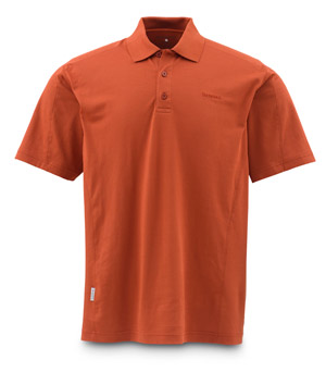<font color=red>On Sale - Clearance</font><br>Simms Polo - Simms Orange