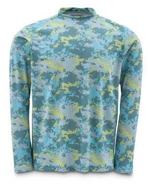 <font color=red>On Sale - Clearance</font><br>Simms Solarflex Shirt - LS - Saltwater Camo