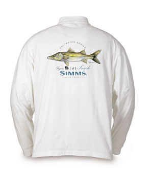 <font color=red>On Sale - Clearance</font><br>Simms Long Sleeve T-shirt - Snook/White