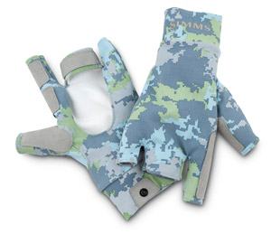 <font color=red>On Sale - Clearance</font><br>Simms SunGloves - Saltwater Camo