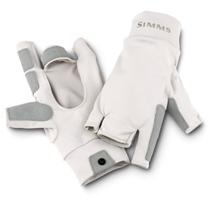 <font color=red>On Sale - Clearance</font><br>Simms SunGloves - Stone