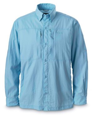 <font color=red>On Sale - Clearance</font><br>Simms Superlight Shirt - Aqua