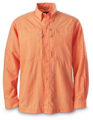 <font color=red>On Sale - Clearance</font><br>Simms Superlight Shirt - Coral