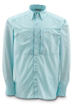 <font color=red>On Sale - Clearance</font><br>Simms Ultralight Shirt - Ice Blue