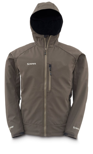 <font color=red>On Sale - Clearance</font><br>Simms Windstopper Softshell Hoody - Black Olive