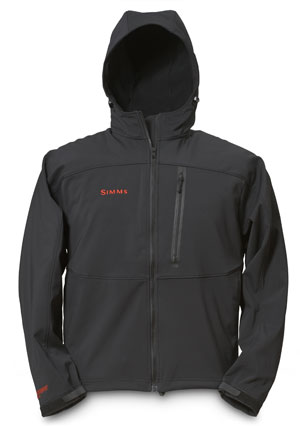<font color=red>On Sale - Clearance</font><br>Simms Windstopper Softshell Hoody - Black