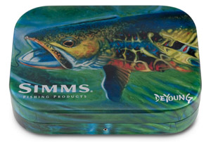 Simms Wheatley Fly Box - Brook Trout - 4""