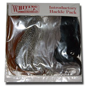 Whiting Introductory Hackle Pack - 4 Assorted 1/2 Capes