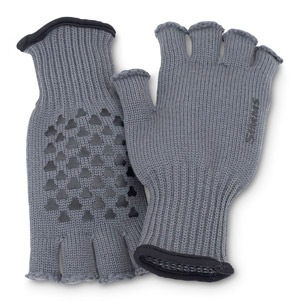 Simms Wool Half-Finger Gloves - Gunmetal