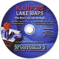 ILLINOIS FISHING MAP GUIDE CD ROM