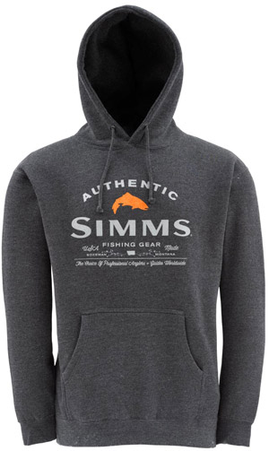 <font color=red>On Sale - Clearance</font><br>Simms Badge of Authenticity Hoody - Coal