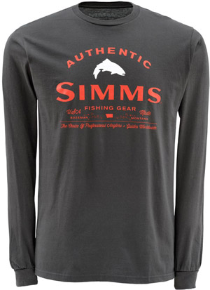 <font color=red>On Sale - Clearance</font><br>Simms Badge of Authenticity LS - Gunmetal