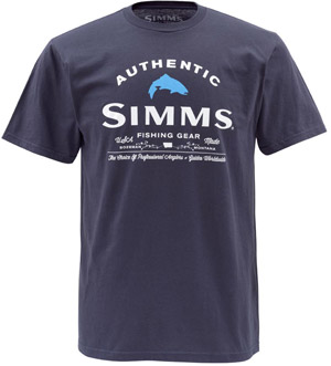 <font color=red>On Sale - Clearance</font><br>Simms Badge of Authenticity SS - Navy