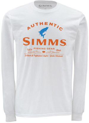<font color=red>On Sale - Clearance</font><br>Simms Badge of Authenticity LS - White