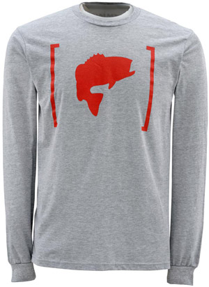 <font color=red>On Sale - Clearance</font><br>Simms Bass Brackets LS - Ash Grey
