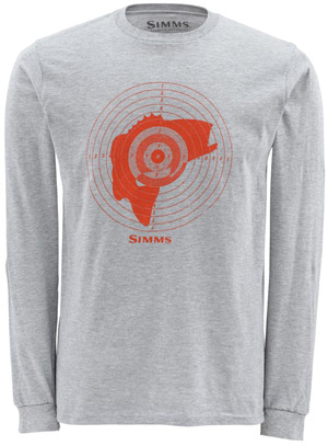 Simms Bass Hunter LS T-Shirt - Ash Grey