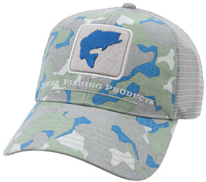 <font color=red>On Sale - Clearance</font><br>Simms Bass Trucker Cap - Geo Camo
