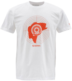 <font color=red>On Sale - Clearance</font><br>Simms Bass Hunter SS T-Shirt - White