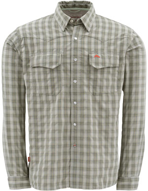 <font color=red>On Sale - Clearance</font><br>Simms Big Sky LS Shirt - Sagebrush Plaid