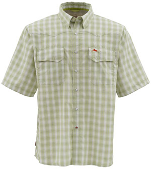 <font color=red>On Sale - Clearance</font><br>Simms Big Sky SS Shirt - Citron Plaid