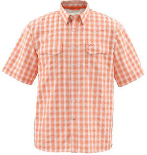 <font color=red>On Sale - Clearance</font><br>Simms Big Sky SS Shirt - Clay Plaid