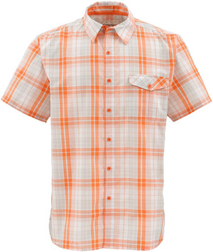 <font color=red>On Sale - Clearance</font><br>Simms Bimini SS Shirt - Clay Plaid
