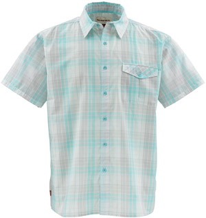 <font color=red>On Sale - Clearance</font><br>Simms Bimini SS Shirt - Shore Plaid