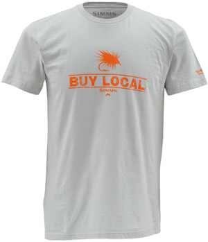 <font color=red>On Sale - Clearance</font><br>Simms Buy Local SS T-Shirt - Grey
