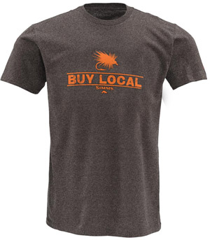 <font color=red>On Sale - Clearance</font><br>Simms Buy Local SS T-Shirt - Gunmetal