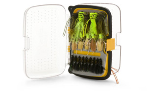 Scientific Anglers Waterproof Fly Box - Classic 176 Angled Fly Box - Medium - Yellow