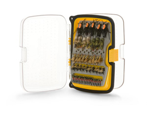 Scientific Anglers Waterproof Fly Box - Compact 164 Angled Fly Box - Small - Yellow
