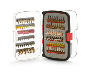 Scientific Anglers Waterproof Fly Box - Compact Nymph 270 Fly Box - Small - Red