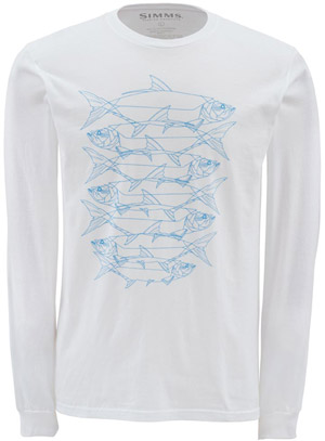 <font color=red>On Sale - Clearance</font><br>Simms Daisy Chain LS T-Shirt - White