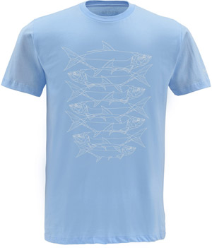 <font color=red>On Sale - Clearance</font><br>Simms Daisy Chain SS T-Shirt - Light Blue
