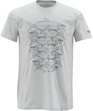 <font color=red>On Sale - Clearance</font><br>Simms Daisy Chain SS T-Shirt - Grey