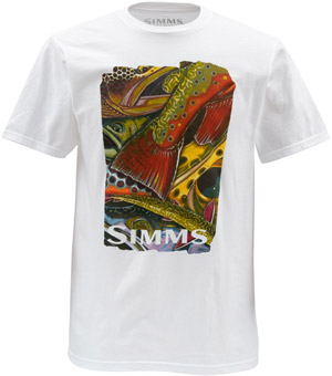 <font color=red>On Sale - Clearance</font><br>Simms DeYoung Trout Confetti SS - White