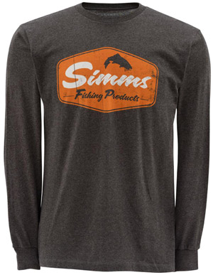 Simms Fishing Products LS T-Shirt - Gunmetal