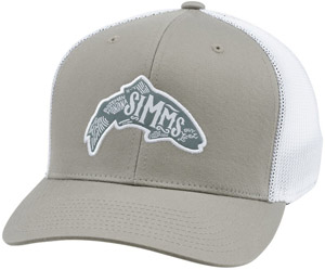 <font color=red>On Sale - Clearance</font><br>Simms Flexfit Trucker Woodblock - Trout Coffee