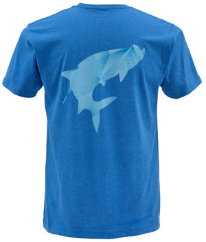 <font color=red>On Sale - Clearance</font><br>Simms Fractal Tarpon SS T-Shirt - River
