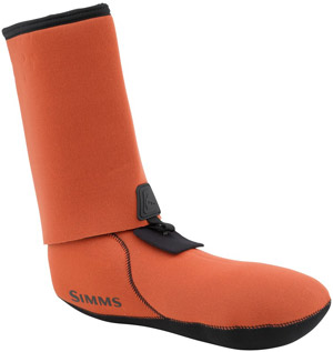 <font color=red>On Sale - Clearance</font><br>Simms Guard Socks - Fury Orange