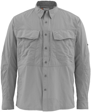 Fly fishing flies on sale clearance simms guide ls for Fishing shirts on sale