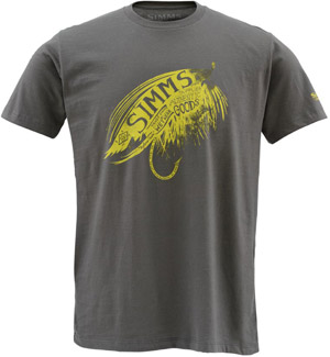 <font color=red>On Sale - Clearance</font><br>Simms Hooked SS T-Shirt - Gunmetal