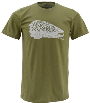 <font color=red>On Sale - Clearance</font><br>Simms Kype Jaw SS T-Shirt - Olive