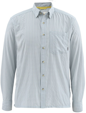 <font color=red>On Sale - Clearance</font><br>Simms Morada LS Shirt - Heron