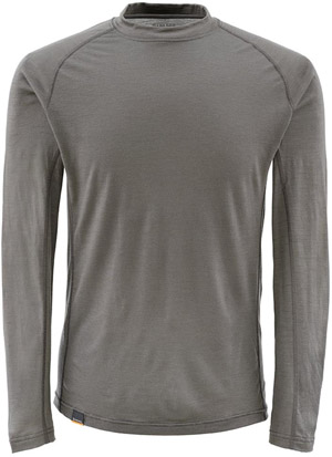 <font color=red>On Sale - Clearance</font><br>Simms Montana Wool Core Crewneck - Dark Gunmetal