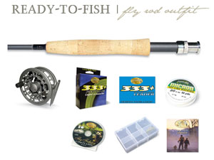"Cortland ""Ready-to-Fish"" Fly Fishing Outfit - 9ft 6wt 4pc"
