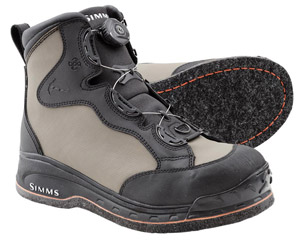 <font color=red>On Sale - Clearance</font><br>Simms Rivertek Boa Boot - Felt